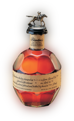 A 1 liter bottle of Blanton's Original Single Barrel Bourbon Whiskey