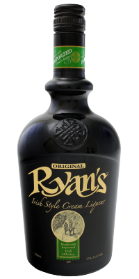 Ryans Irish Cream bottle 750ml transparent