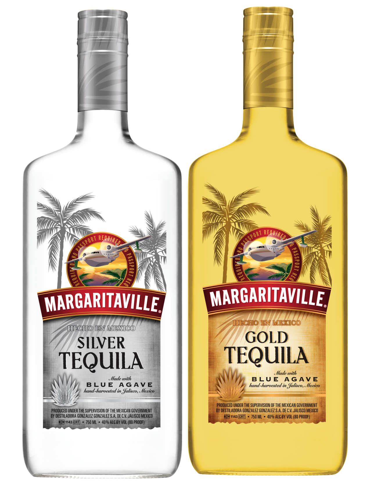 Margaritaville Silver and Gold Tequila